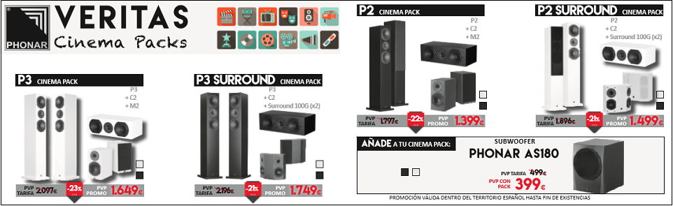 OFERTAS PHONAR CINEMA PACK