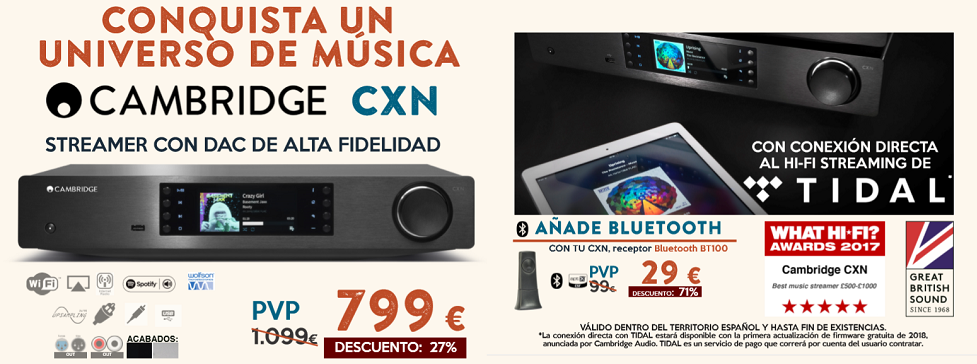 OFERTA CAMBRIDGE AUDIO CX N