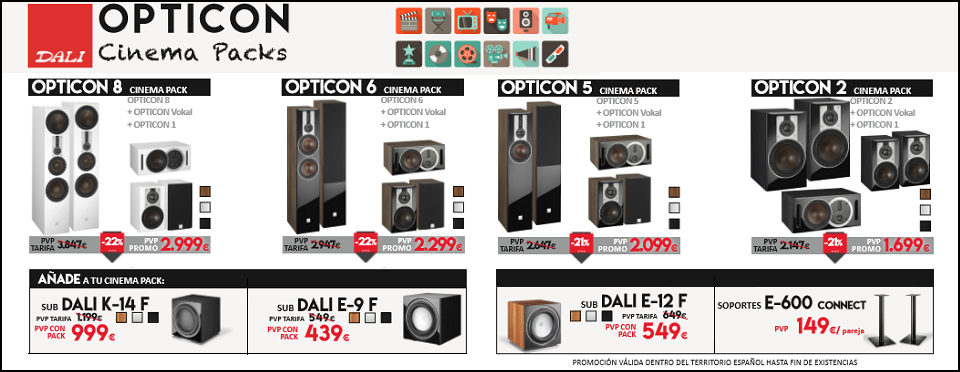 OFERTA DALI OPTICON CINEMA PACK