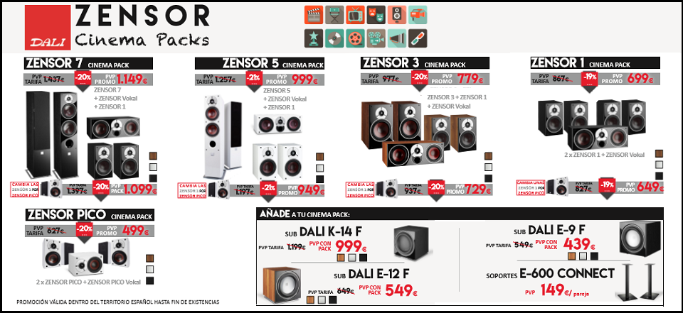 OFERTA DALI ZENSOR CINEMA PACK